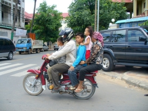 Moto taxi in Phnom Penh