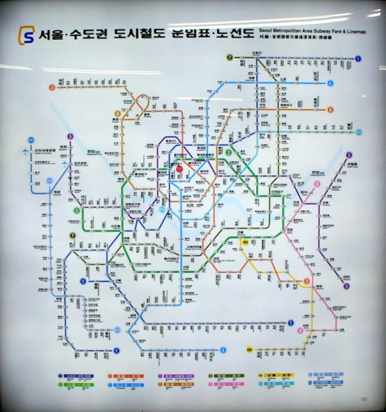 Network of rail links in Seoul