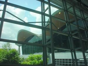 Protruding rooflets provide shade at Kuala Lumpur Airport