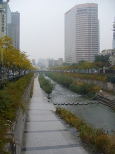 River walk - it rains